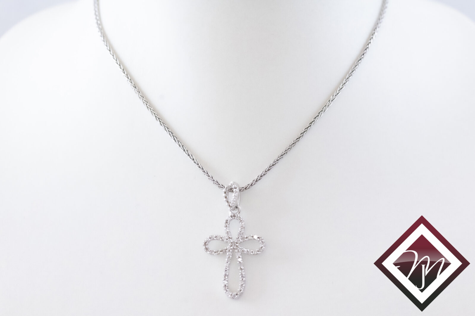 Silver religious necklace